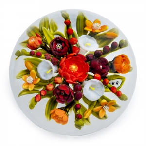 Cathy Richardson: Red Star Magnum Bouquet Paperweight