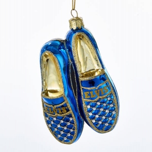 Kurt Adler: Elvis Blue Suede Shoes Ornaments