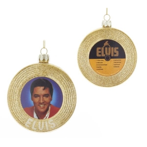Kurt Adler: Elvis Gold Record Ornament