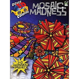 Mosaic Madness in 3-D Coloring Book