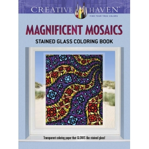 Magnificent Mosaics Stained Glass Coloring Book