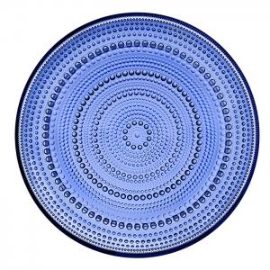 Oiva Toikka: Large Kastehelmi Plate, Ultramarine Blue