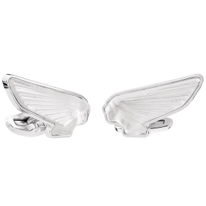 Lalique: Victoire Mascottes Cufflinks, Clear
