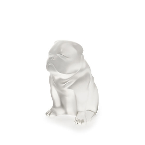 Lalique: Bulldog Sculpture