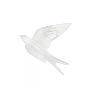 Lalique: Swallow Wings Up Wall Sculpture, Clear