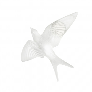 Lalique: Swallow Wall Sculpture, Clear