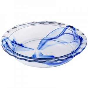 Pyrex: Watercolor Pie Plate, Blue Lagoon