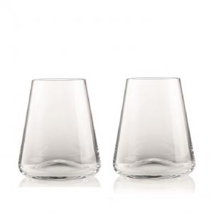 Rogaska: Armonia Stemless Wine Glasses, Set of 2
