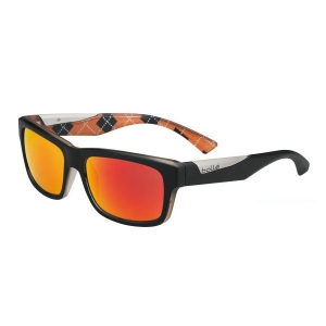 Bolle: Jude Matte Black/Orange Polarized TNS Fire Anti-Reflective Sunglasses