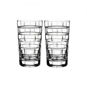 Rogaska: Quoin Highball Glasses, Set of 2