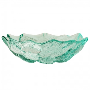 Hudson Beach Glass: Lotus Bowl, Ice With Jewel Finish