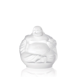 Lalique: Happy Buddha Sculpture, Clear