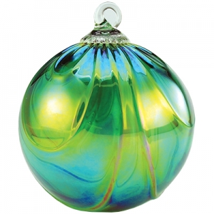 Glass Eye Studio: Green Draped Ornament