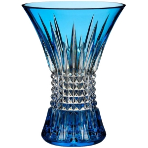 Waterford: Lismore Diamond Light Blue Vase