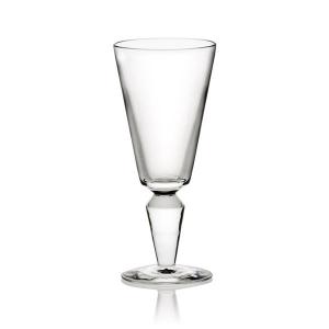 Steuben: Vee White Wine Glass