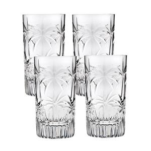 Godinger: Shannon South Beach Palm Highball Glasses, Set of 4