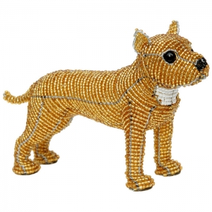 Beadworx: Beaded Pitbull Staffie