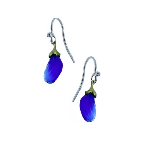 Michael Michaud: False Indigo Small Bud Earrings