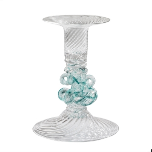 William Gudenrath: Sea Green Knot Candlestick