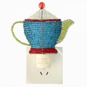 Beadworx: Beaded Teapot Night Light