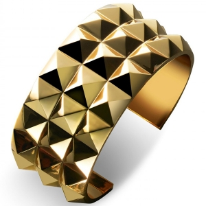 Waterford Rebel: Ella Triple Row Cuff Bracelet, Gold