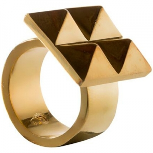 Waterford Rebel: Ella Size 6.5 Stud Ring, Gold
