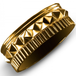 Waterford Rebel: Gracie Stud Bangle, Gold