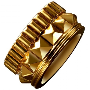 Waterford Rebel: Gracie Size 6.5 Stud Ring, Gold