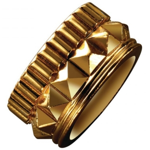 Waterford Rebel: Gracie Size 7.5 Stud Ring, Gold