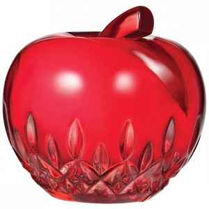 Waterford: Apple Paperweight, Red