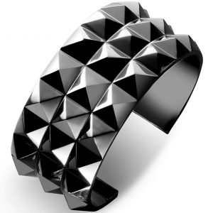 Waterford Rebel: Ella Triple Row Cuff Bracelet, Gunmetal