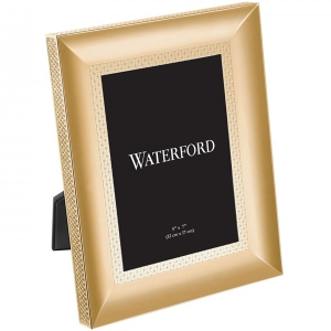 "Waterford: Lismore Diamond 5"" x 7"" Frame, Gold"