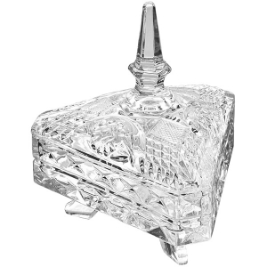 Studio Silversmiths: Triangular Covered Candy Dish