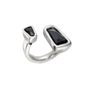 UNOde50: Ladymatic Medium Ring, Black
