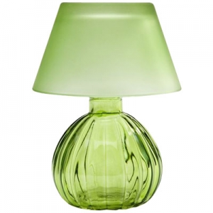 Studio Silversmiths: Votive Lamp With Shade, Light Green
