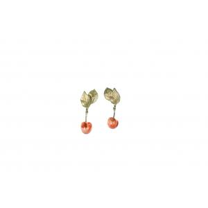 Michael Michaud: Morello Cherry Post Earring