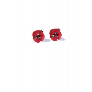 Michael Michaud: Red Poppy Post Earrings