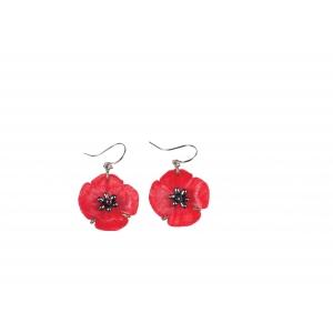 Michael Michaud: Red Poppy Wire Earrings