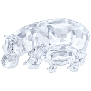Swarovski: Hippo Mother with Baby