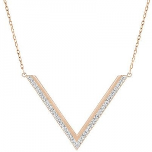 Swarovski: Delta Medium Necklace, Rose Gold-Plated