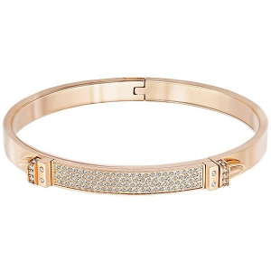 Swarovski: Distinct Narrow Small Bangle, Rose Gold-Plated