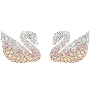 Swarovski: Iconic Swan Pierced Earrings
