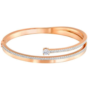 Swarovski: Fresh Medium Bangle, Rose Gold-Plated