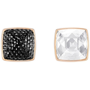 Swarovski: Glance Pierced Earrings, Black/White