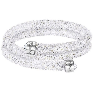 Swarovski: Crystaldust Small Double Bangle, White