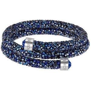 Swarovski: Crystaldust Small Double Bangle, Blue