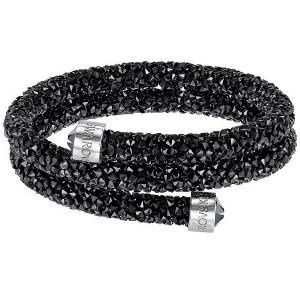 Swarovski: Crystaldust Small Double Bangle, Black