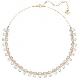 Swarovski: Gallery Square All-Around Necklace, Rose Gold