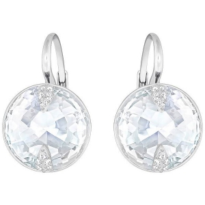 Swarovski: Globe Earrings, Rhodium Plated
