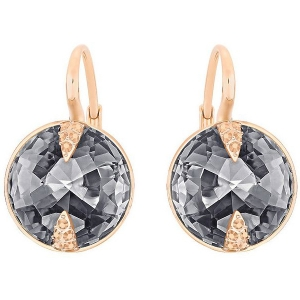 Swarovski: Globe Earrings, Gray, Rose Gold Plated